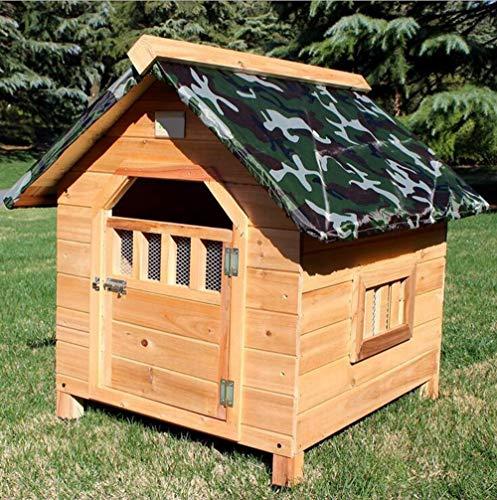 YAMEIJIA Tir Massiv Holz Haustier Nest Holz-Zwinger atmungsaktive Türen und Fenster Outdoor Katzenhaus Regenhaus,XL