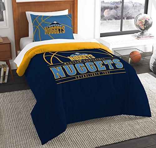 Polyester-twin-size-tröster (The Northwest Company Offiziell Lizenziertes NBA Denver Nuggets Swam Twin Tröster und Sham)