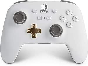 PowerA Enhanced Wireless Controller for Nintendo Switch - White, Nintendo Switch Lite, Gamepad, Game Controller, Bluetooth Controller