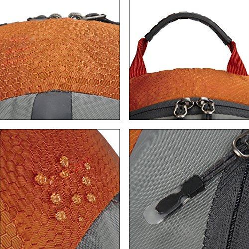 begorey 25L Nylon Wasserdicht Unisex Outdoor Sport Schulrucksack Klettern Camping Reisen Rucksack Orange