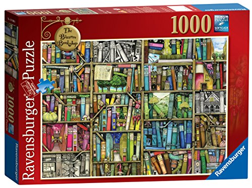 Ravensburger Der Bizarre Buchladen, 1000 Teile Puzzle (Bücherregal-regale-bibliothek)