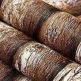 3D - Imitation Holz Tapeten, Rinde, Baumstämme, Baumstämme, Baum Formen, Tapeten, Café, Hotel - Wand, Wallpaper,Wand-Aufkleber,0.53M×10M,Wandmalerei