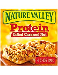 Nature Valley Protein Salted Caramel Nut Cereal Bars 40g (Pack of 4 bars)