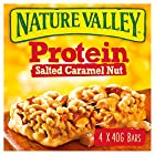 Nature Valley Protein Salted Caramel Nut Gluten Free Cereal Bars 40g (Pack of 4 bars)