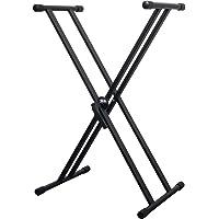 CASCHA Double X-Frame Keyboard Ständer höhenverstellbar aus Metall I Keyboard Stand Gestell für Keyboard klappbar I E…