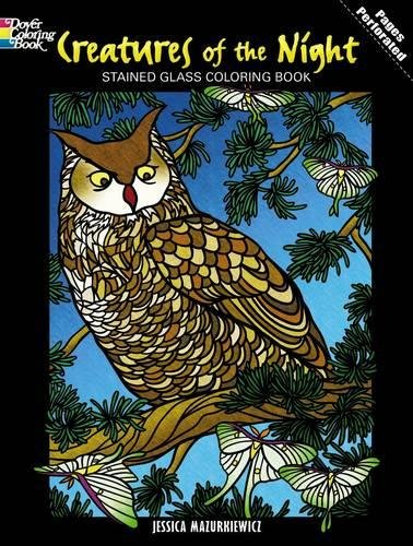 Creatures of the Night Stained Glass Coloring Book (Dover Coloring Books)