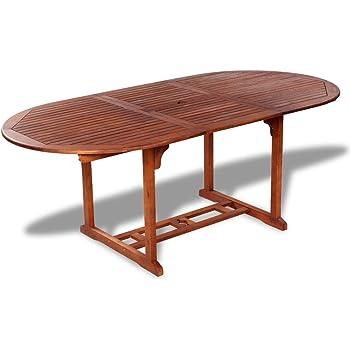 vidaXL Table de salle à manger extensible bois d'acacia Meuble de jardin