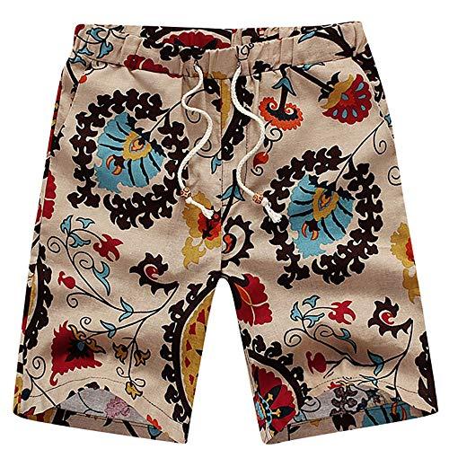 Aiserkly Herren Sommer Cargo Shorts Bermuda Vintage Casual Kurz Hose Strandhosen Bequeme Stoffhose - Olive Nadelstreifen-anzug