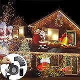 GAXmi Fée LED Lumières Télécommande 12-en-1 Noël De plein air Décorations Imperméable Éclairage ...
