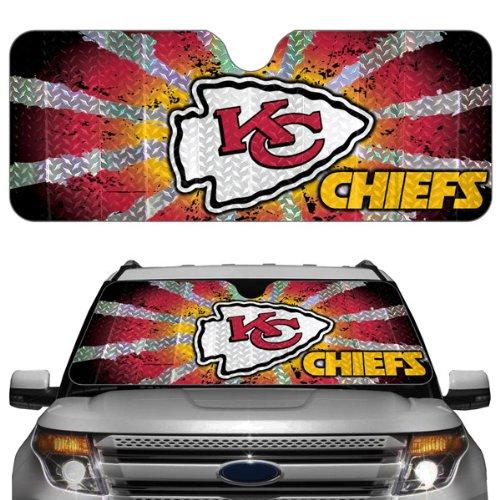 Team ProMark NFL Kansas City Chiefs Auto Sun Shade 57 Nfl Football