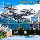 Cewaal Drone Explorer X5C-1 aggiornato con fotocamera da 2 megapixel, drone Quadcopter RC con modalità altitudine Rotella da 360 gradi per lanciare display LCD Giocattoli volanti