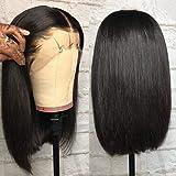 Wigreat 12inch Straight Bob Lace Front Human Hair Pruiken Braziliaans maagdelijk menselijk haar Korte bobhaarpruiken met baby