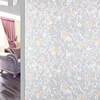 Home Décor 18x79inch 3D Non-Adhesive Window Film Sunscreen