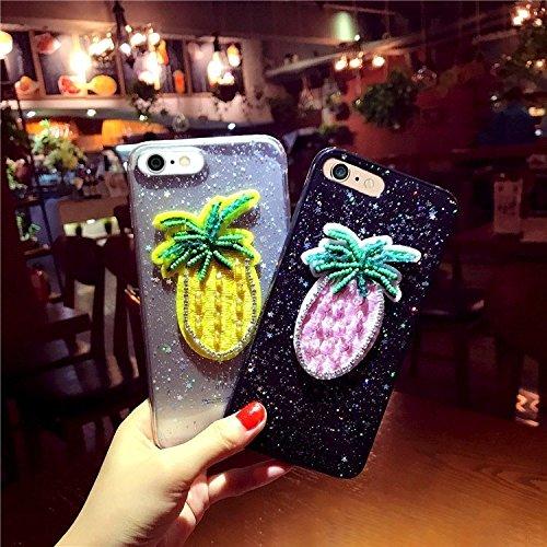 GHC Cases & Covers, Für iPhone 7 Glitter Powder Stickerei Ananas Muster Schutzmaßnahmen zurück Fall Fall ( Color : Transparent ) Transparent