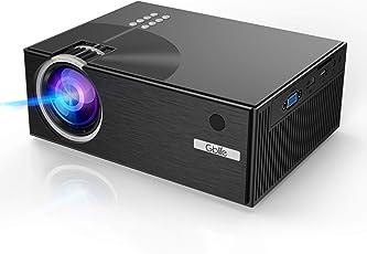 Mini Beamer, 2500 Lumens LCD Mini C7 1080p Full HD LED Projektor Multimedia Heimkino 2018 Neuste Video Projektor Unterstützt PC, Laptop, Tablet, Smartphone, USB-Flash-Disk, SD-Karte Schwarz