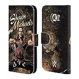 Head Case Designs Offizielle WWE LED Bild Shawn Michaels Brieftasche Handyhülle aus Leder für Samsung Galaxy S6 Edge