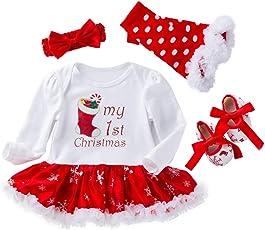 4 stücke Infant Baby Mädchen Strampler Kleider für Weihnachten Halloween Strampler Körper Anzug Outfit Set New Born Mädchen Rock 0-24 Monate