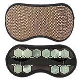 Schlaf-Augen-Schablonen-Magnet eyeshade Turmalin Jade-Stein-Germanium Augenmaske Gesundheitswesen Jade-Stein (Farbe : Jade Stone)