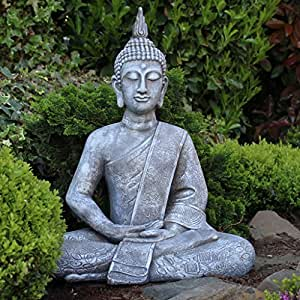 dszapaci buddha statue gro 65cm sitzend deko. Black Bedroom Furniture Sets. Home Design Ideas