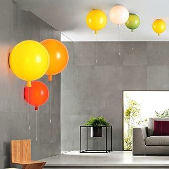 Attirant JinRou Bunte Ballons Wandleuchten Kinderzimmer Schlafzimmer Gang  Wandleuchten Led Modernen Minimalistischen Schlafzimmer Bett , Lampen ,  Gelb  35cm: ...