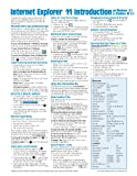 Internet Explorer 11 for Windows 8.1 Quick Reference Guide: Introduction (Cheat Sheet of Instructions, Tips & Shortcuts - Laminated Card)