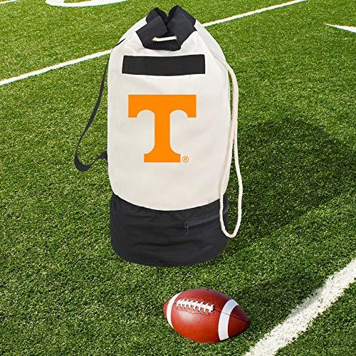 Smart Design Collegiate Robuste Duffel-Tasche mit 2 Fächern, 38,1 x 76,2 cm, Segeltuch, Design der University of Tennessee Team - offiziell Lizenziertes Logo, Weiß und Orange -