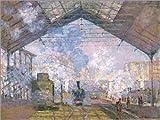 Posterlounge Forex-Platte 130 x 100 cm: Bahnhof von St. Lazare von Claude Monet/Bridgeman Images
