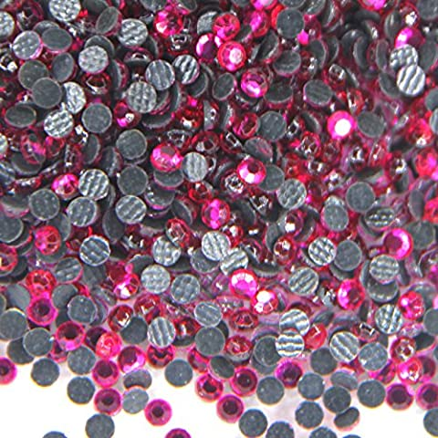 Mélange 500 Strass en verre ROSE FUCSIA hotfix assortiment s06/ s10/ s16/ s20 bling - Vetro Abbellimenti
