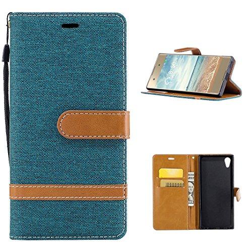 Sony Xperia XA1 Flip Case, Moon mood Mobile protection für Sony Xperia XA1 5.0 Zoll PU Leder Brieftasche Folio Handyhülle Tasche Backcover Handytasche im BookStyle Tasche Magnetverschluss Cover