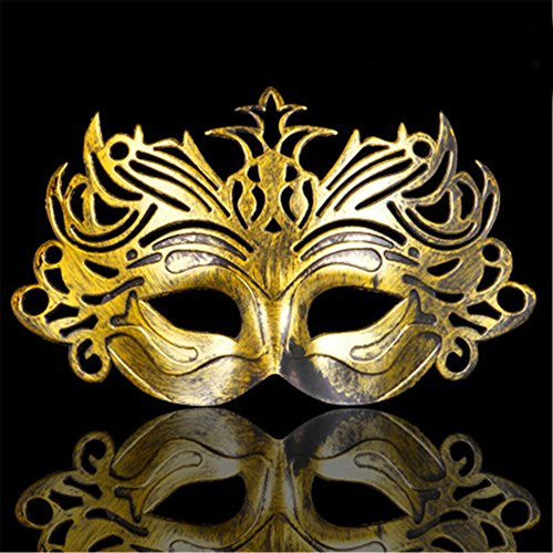 Halloween Maske Masquerade Party Go Show Show Gemalte Schönheit Prinzessin Half Face Crown Masken,Antique Brass