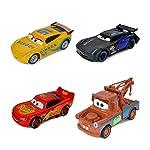 Cars Çek Bırak Oyuncak Metal Kasa Arabalar 4'lü Set