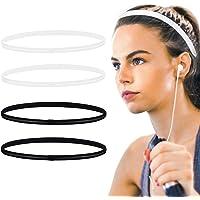 4 pezzi, fascia sportiva antiscivolo, fascia elastica maschile e femminile, adatta per jogging, yoga, basket, tennis…