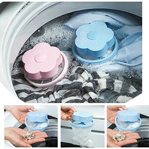 suyi Floating Style Mesh Filter Taschen für Waschmaschine Wolle Filtration Haarentfernung blau