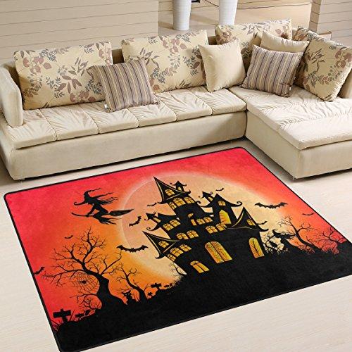 ppiche 59,9x 39,9cm die Sauberlaufmatten Night Full Moon Happy Halloween Soft Teppich Personalisierte Matte für Küche Living Esszimmer Schlafzimmer Deko 63x48 Inches Image 759 ()