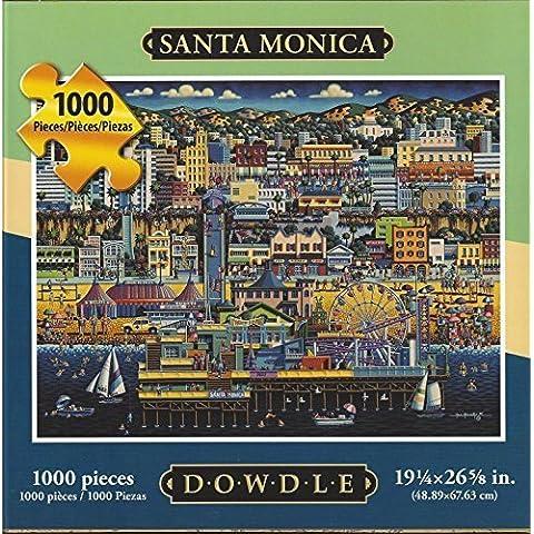 Dowdle Folk Art Puzzle Santa Monica CA 1000 Pieces NEW 16
