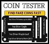 Coin size identify check for fake coins Full Gold Sovereign Half Gold Sovereign 1oz Silver Eagle 1oz Silver Maple Leaf 1oz Silver Britannia 1 oz gold krugerrand 1/2 oz gold krugerrand by pure gold uk