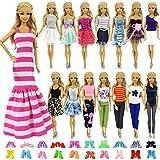 ZITA ELEMENT 10 Stück Kleider Kleidung Puppensachen Mode Urlaubstag Kleider für 11,5 Zoll Puppen...