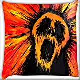 Snoogg Colorful Bear 20 X 20 Inch Throw Pillow Case Sham Pattern Zipper Pillowslip Pillowcase For Drawing Room Sofa Couch Chair Back Seat