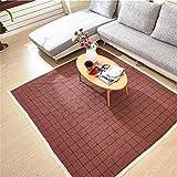 Oudan Baumwolle Baby Kind Crawling Teppich Wohnzimmer Schlafzimmer Nachttisch Teppich Matratze Tür Matte Red Plaid (Größe: 60 * 90 cm) (Größe : 180 * 220cm)