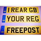 Rear Standard GB Euro Number Plate, 100% MOT Compliant for Car / Van