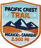 2 x Pacific Crest Trail Abzeichen gestickt 51 x 60 mm / Mexico Canada Aufnäher Aufbügler Sticker Patch Bügelbild / Wandern Trekking Outdoor USA Amerika Wild große Tripp Reiseführer Wanderführer