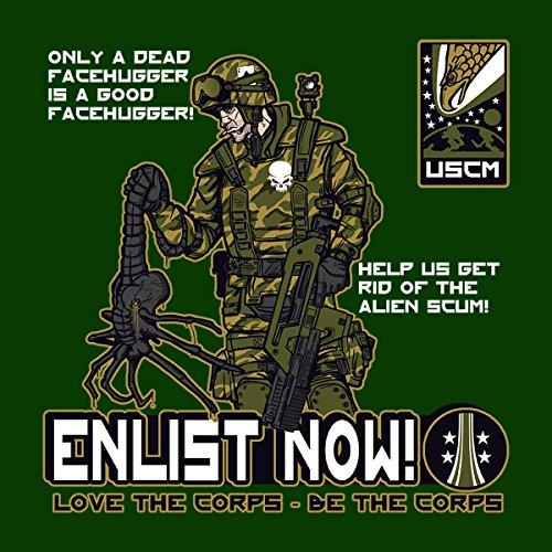 Be The Corps Aliens Men's T-Shirt Bottle Green