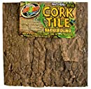 Zoo Med NCB-3E Natural Cork Tile Background, 46 x 46 cm Rückwand für Terrarien in Baumrindenoptik