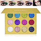 SOMEAS 12 Farben Lidschatten Langlebig Schimmer Glitter Palette