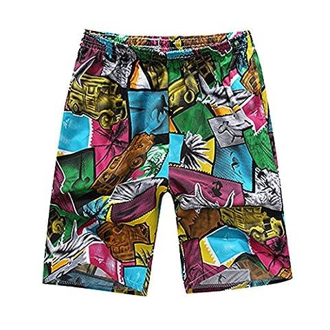 Honeystore Herren Strand Shorts Schnell Trocknend Schwimmhose Surfen Shorts Sommer Boardshorts One Size
