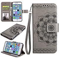Cozy Hut iPhone 7 Plus Hülle, iPhone 8 Plus Hülle Leder Case, Premium Handy Schutzhülle für iPhone 7 Plus/ 8 Plus Hülle Leder Wallet Tasche Flip Brieftasche Etui Schale, PU Schutz Etui Sch