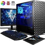 VIBOX Killstreak VRS580-39 VR Gaming PC mit Oculus Rift, Spiel Bundle, 22 Zoll HD Monitor (4,6GHz Intel i3 Quad-Core Prozessor, Radeon RX 580 Grafikkarte, 8Go DDR4 RAM, 2TB HDD, Ohne Betriebssystem)