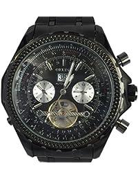 ORKINA KC082-S-Black/Black - Reloj para hombres, correa de acero inoxidable color negro