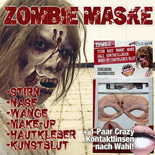 Latex Maske Halloween Schminke Zombie mit
