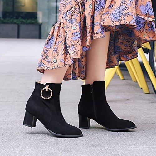 In Formato Donne Decorazione Nero Con Stivali Invernali terry Metallo Di WwPY5xqPHr